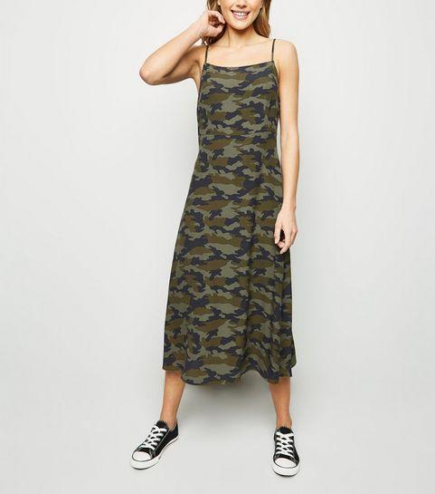 ... Green Camo Slip Dress ... 7a33d5038