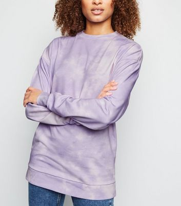 Tall - Sweat lilas à effet tie-dye