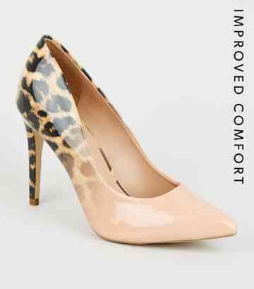 329a412eec Nude Ombré Leopard Print Court Shoes ...