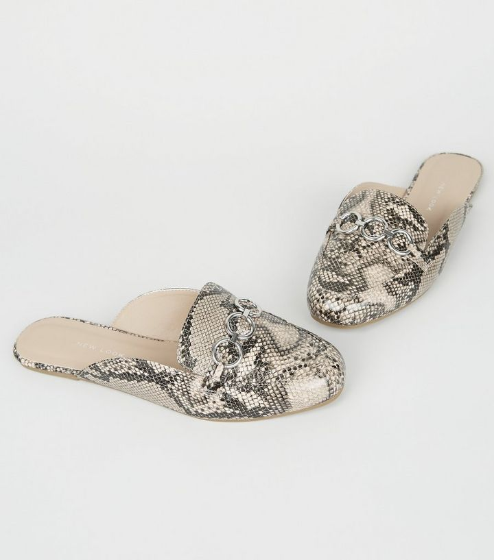 28144406c31 ... Wide Fit Stone Faux Snake Mule Loafers. ×. ×. ×. Shop the look