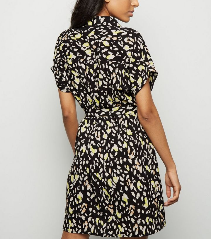735eab3ea9a ... Petite Black Animal Print Shirt Dress. ×. ×. ×. Shop the look