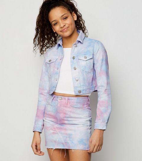 d0f3d1974f ... Girls Multicoloured Tie Dye Denim Skirt ...