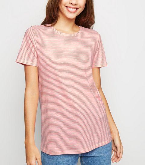... Pink Neon Stripe T-Shirt ... ec9606c5c1
