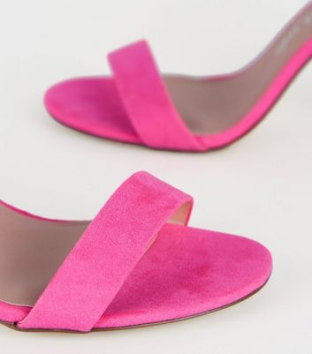 Wide Fit Bright Pink Suedette Block