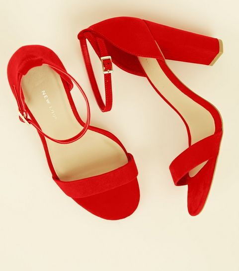 bf83e30a80b Red Shoes | Red Heels, Red Sandals & Burgundy Shoes | New Look