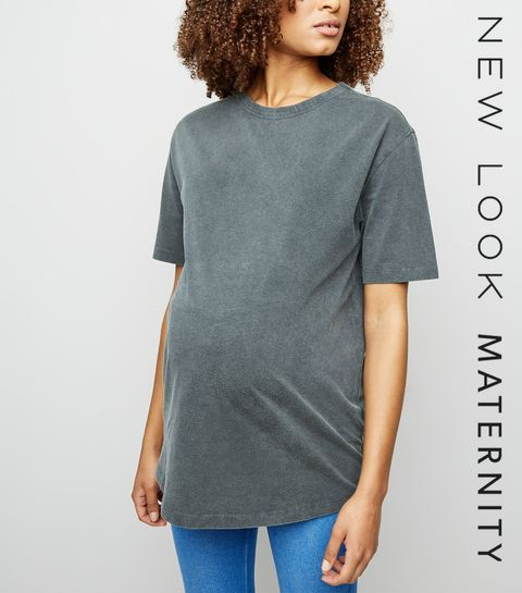 1a219adbe6 ... Maternity Grey Acid Wash Oversized T-Shirt ...