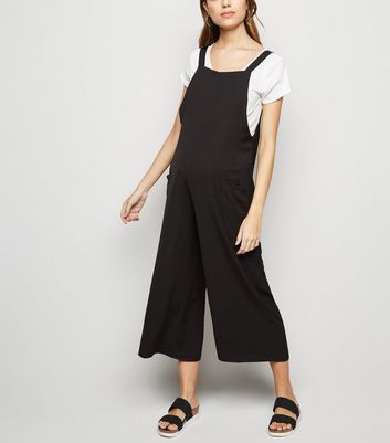 Maternity Black Dungaree Jumpsuit