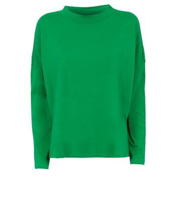 Noisy May Green Step Hem Top New Look