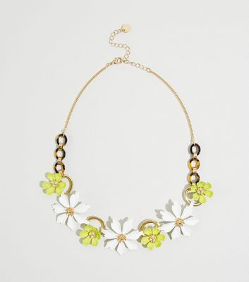 WANTED Multicoloured Flower Chain Necklace