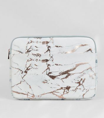 "Light Grey Marble Effect 13"" Laptop Case"