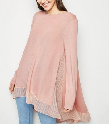 Blue Vanilla Pink Stripe Panel Top
