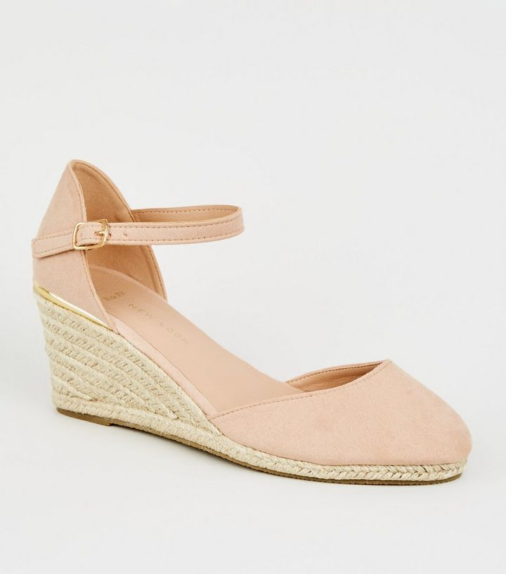 f1f819c277b Wide Fit Nude Suedette Espadrille Wedges Add to Saved Items Remove from  Saved Items