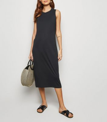 Noisy May Black Sleeveless Midi Dress