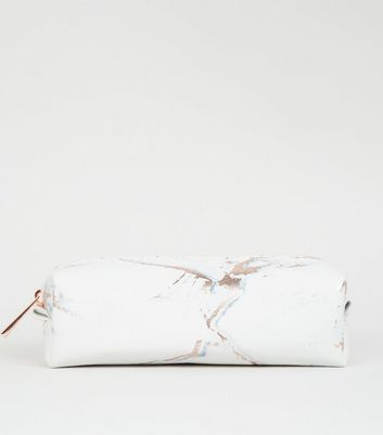 Light Grey Marble Effect Pencil Case