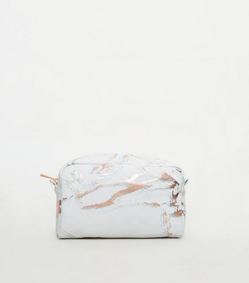 Light Grey Marble Effect Large Make-Up Bag