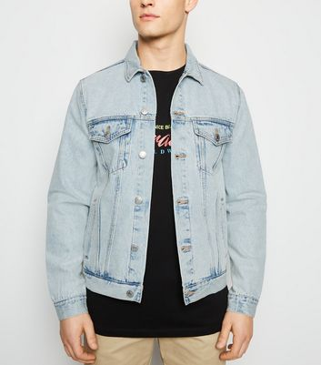 Pale Blue Bleach Wash Denim Jacket
