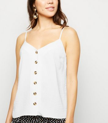 Off White Button Front Cami