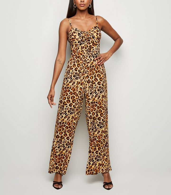 wide selection of designs Super discount the latest Brown Leopard Print Bustier Jumpsuit Add to Saved Items Remove from Saved  Items