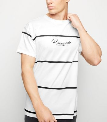 White Stripe Resort Slogan T-Shirt