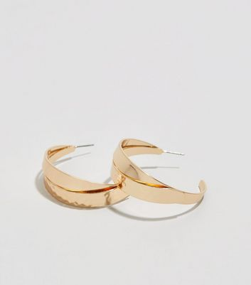 Gold Interlinked Hoop Earrings
