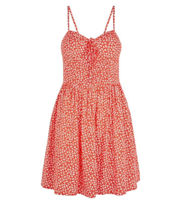 a55019501 ... Red Floral Bustier Sundress. ×. ×. ×. Shop the look