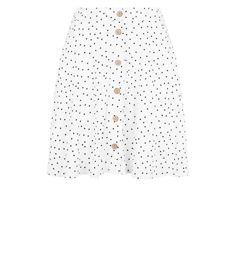 New Look - spot button up mini skirt - 4
