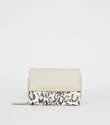 Stone Leopard Print Small Purse