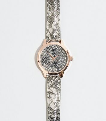 Dark Grey Faux Snake Watch