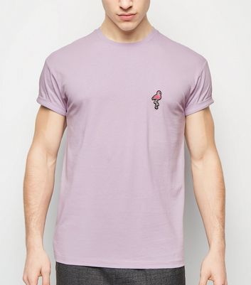 Lilac Flamingo Embroidered T-Shirt