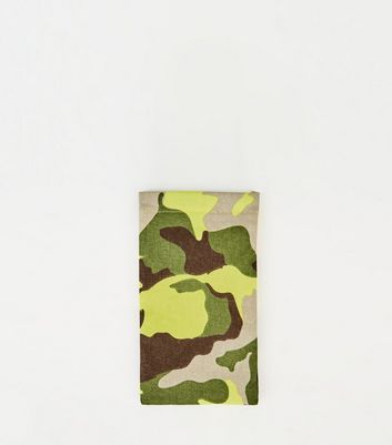 Girls Khaki Camo Sunglasses Case