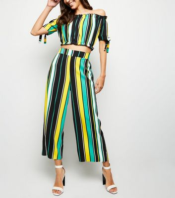 Cameo Rose Yellow Multi Stripe Culottes