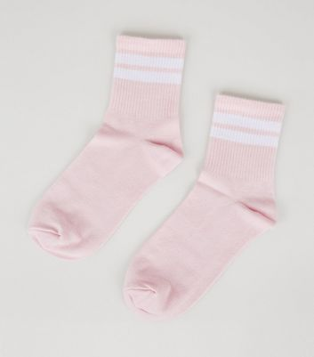 Pink Stripe Tube Socks