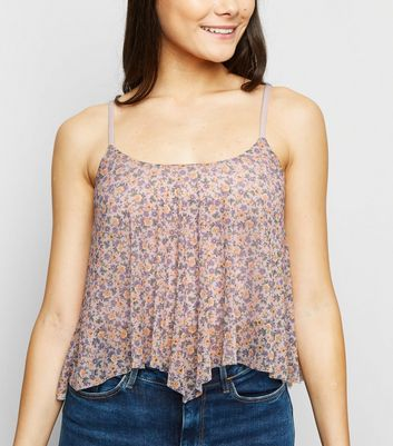 Multicoloured Ditsy Floral Hanky Hem Top