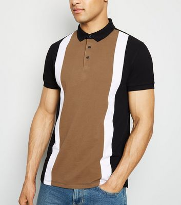 Chemise camel design color block
