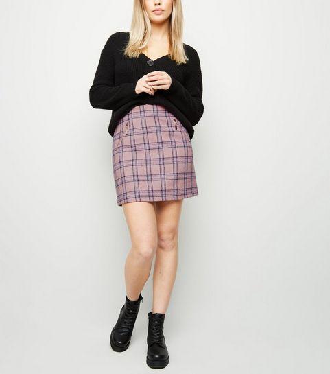 f0102e73f92 ... Blue Vanilla Pink Check Mini Skirt ...