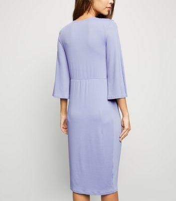 shop for Blue Vanilla Lilac Twist Front Midi Dress New Look at Shopo