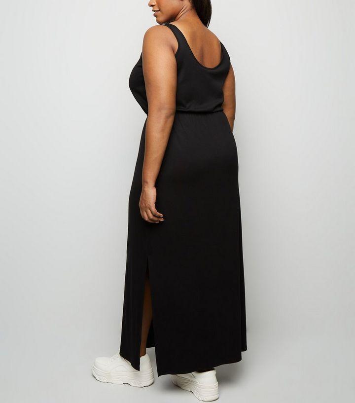 59bf6e2f2a ... Curves Black Elasticated Waist Jersey Maxi Dress. ×. ×. ×. Shop the look