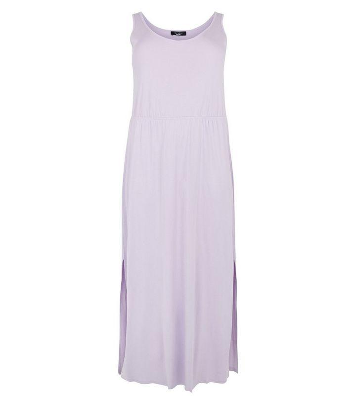 827a3d11f5 Curves Lilac Elasticated Waist Jersey Maxi Dress