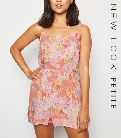78b2e29691d Petite Pink Floral Paisley Playsuit · Petite Pink Floral Paisley Playsuit  ...