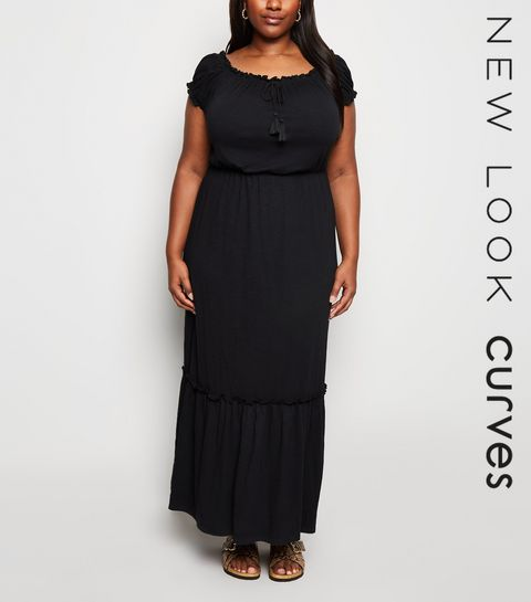 3a719249166 ... Curves Black Jersey Maxi Dress ...
