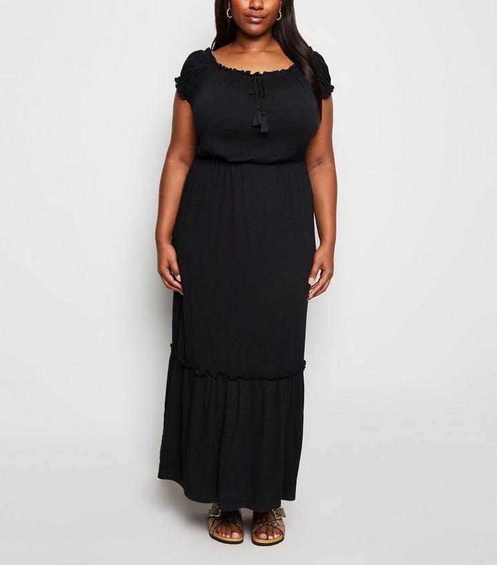 0aeafd5fae3 Robe longue Curves en jersey noir