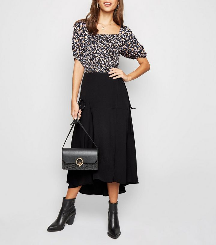 ce680f665f3a Black Wrap Midaxi Skirt | New Look