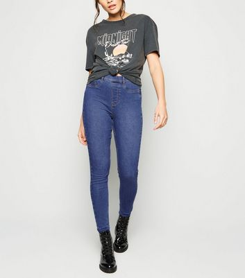 Tall Blue Mid Wash 'Lift And Shape' Jeggings