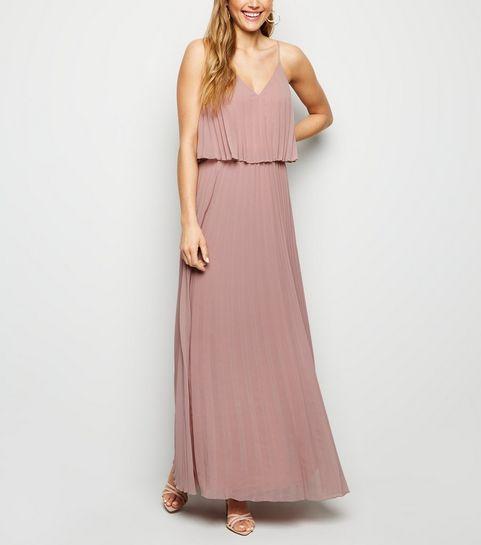 eb787bba3e ... Mink Pleated Layered Maxi Dress ...