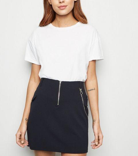 c1618d5759 ... Black Chain Utility Mini Skirt ...