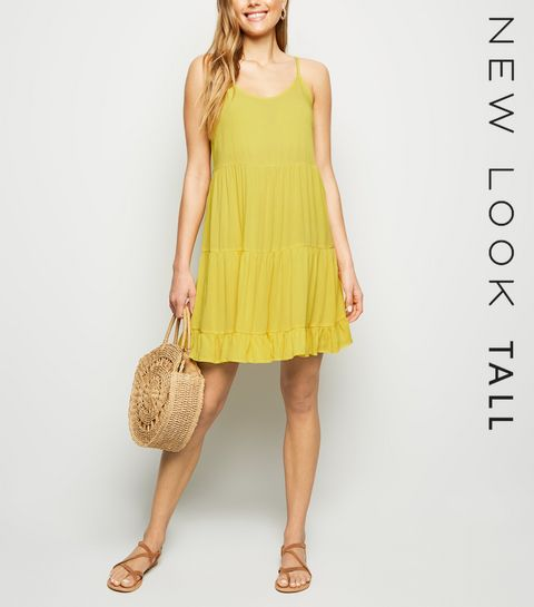 24ad872222a Tall Yellow Tired Sundress · Tall Yellow Tired Sundress ...