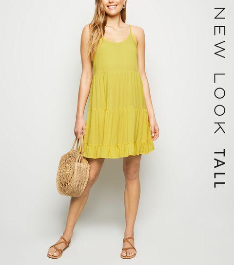 5d46e0cb56 Tall Yellow Tired Sundress · Tall Yellow Tired Sundress ...