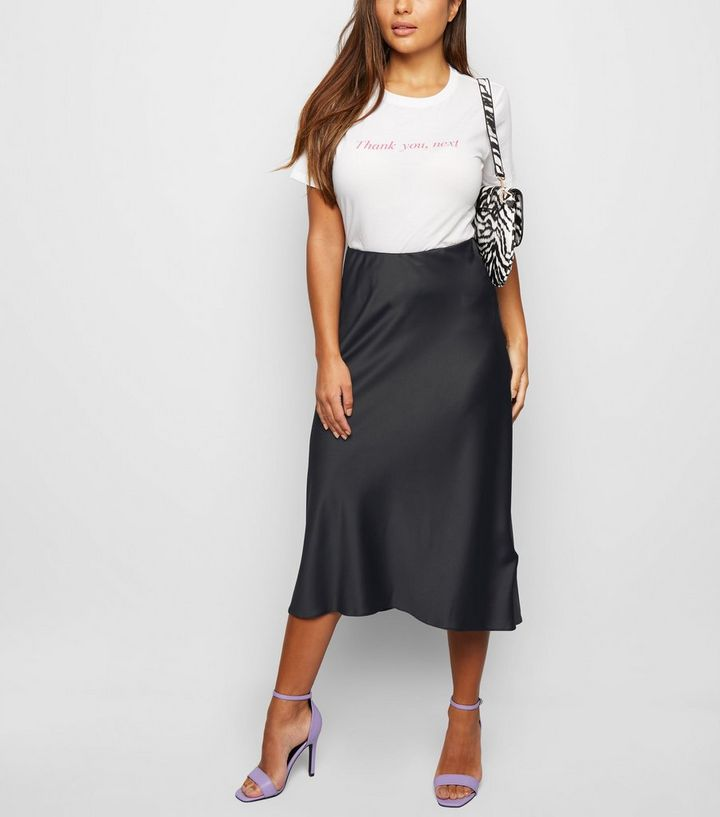 durable in use official images top-rated fashion Petite Black Satin Bias Cut Midi Skirt Add to Saved Items Remove from Saved  Items