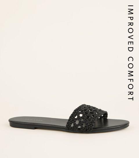 ea3a95da0 Black Woven Strap Sliders · Black Woven Strap Sliders ...