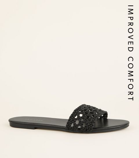 5541d58bc34b Black Woven Strap Sliders · Black Woven Strap Sliders ...